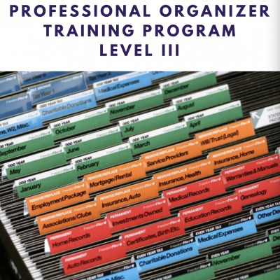Clear & Simple, Professional Organizer Training Program, Level III