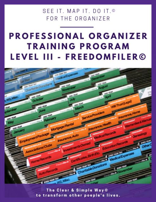 Clear & Simple, Marla Dee, Kate Fehr, Professional Organizer Training Program, Level III