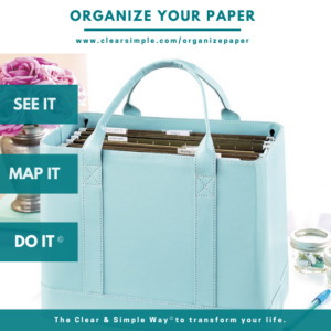 Clear & Simple, SEE IT. MAP IT. DO IT., Marla Dee, Kate Fehr, Organize Your Paper