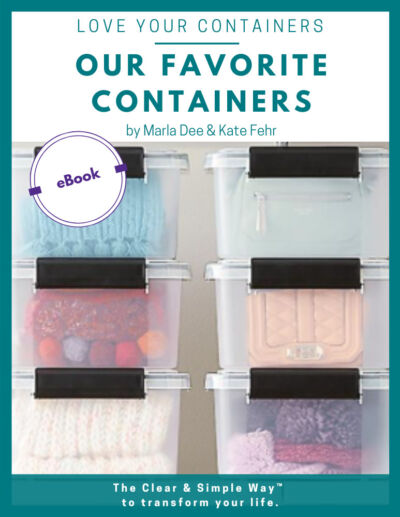Clear & Simple, SEE IT. MAP IT. DO IT., Marla Dee, Kate Fehr, Our Favorite Containers