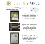 Clear & SIMPLE Clear Project Folder Handout