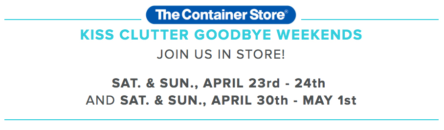 Clear & SIMPLE, Container Store Kiss Clutter Goodbye