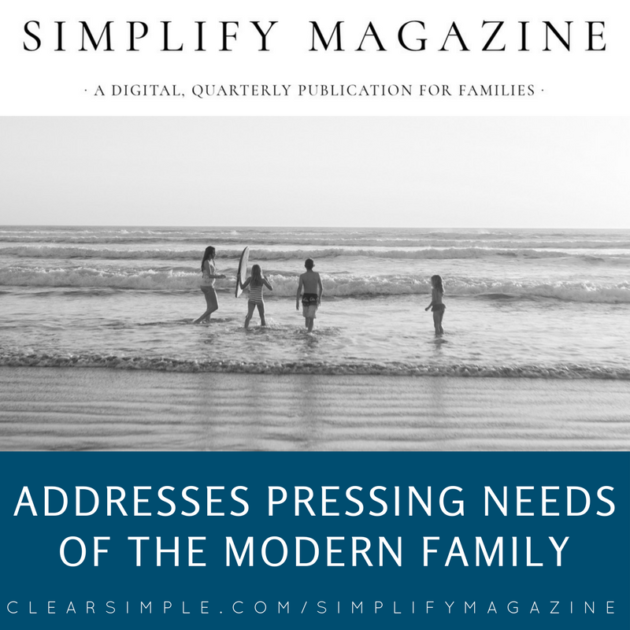Clear & SIMPLE, Simplify Magazine