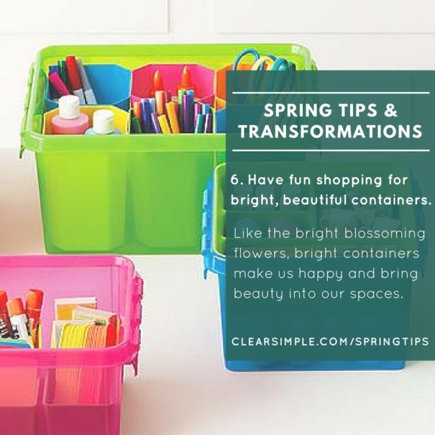Clear & SIMPLE, Top Ten Tips for Spring