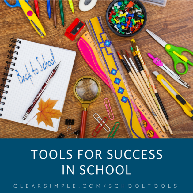 Clear & SIMPLE, Marla Dee, Tools for Success in School Blog Phonto