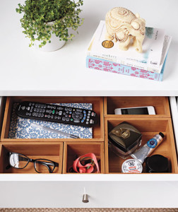 Clear & SIMPLE, Bedside Table Drawer Organizer